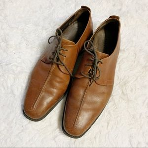 Cole Haan Leather Tan Beckett Center Seam Oxfords